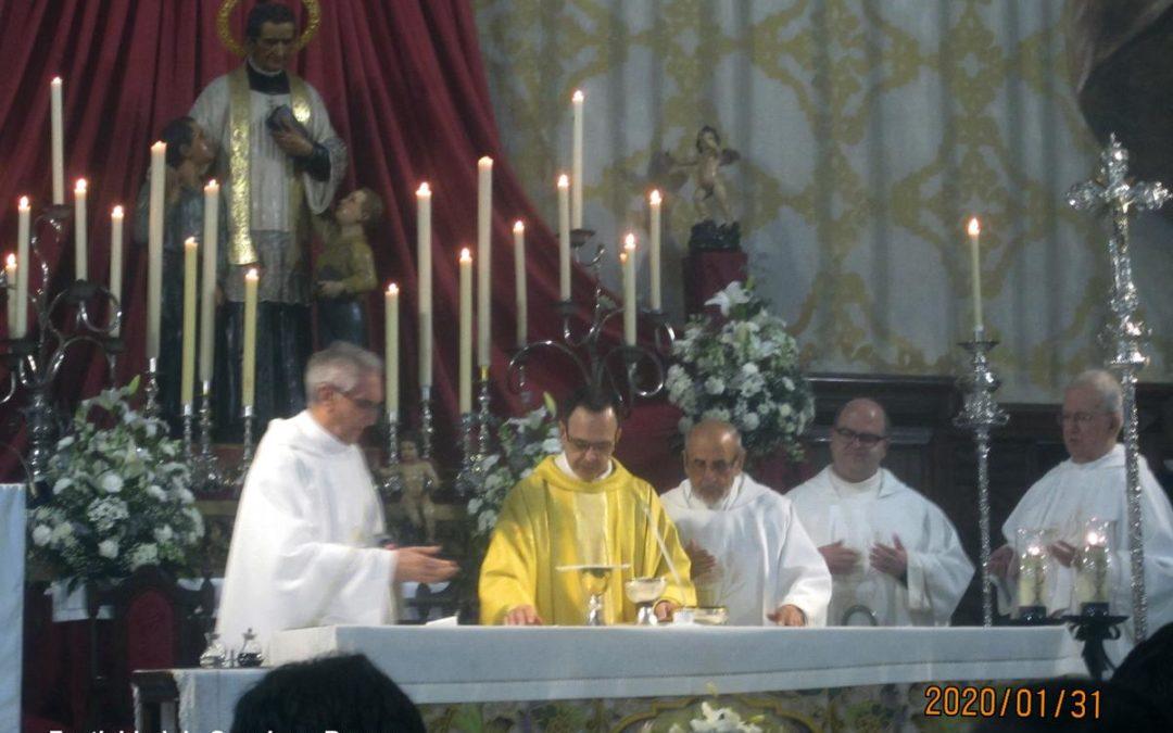 Actos parroquiales celebrados con motivo de la festividad de Don Bosco. Año 2020
