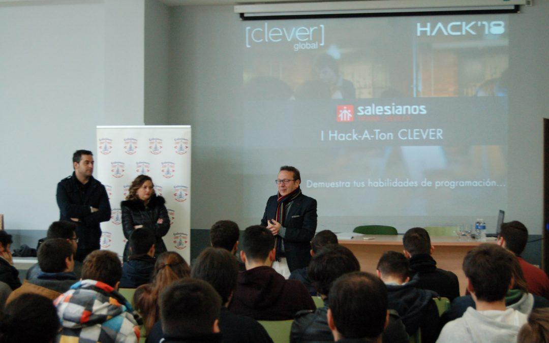 Entrega de premios en nuestro centro del Hack-a-ton realizado por Clever Global