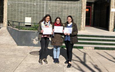 Tres alumnas de segundo de Bachillerato se han presentado a las Olimpiada de Biología.